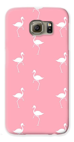 Pink Flamingos Pattern Galaxy S6 Case by Christina Rollo