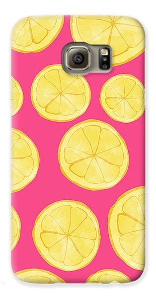 Pink Lemonade Galaxy S6 Case by Allyson Johnson