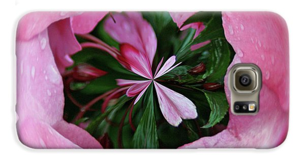 Galaxy S6 Case featuring the photograph Pink Orb by Bill Barber