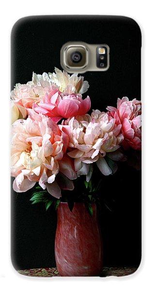 Pink Peonies In Pink Vase Galaxy S6 Case