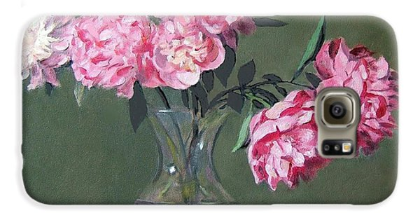 Pink Peonies Walking The Plank Galaxy S6 Case