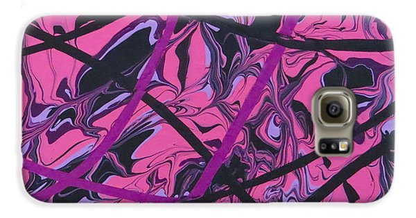 Pink Swirl Galaxy S6 Case
