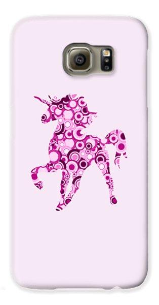 Pink Unicorn - Animal Art Galaxy S6 Case