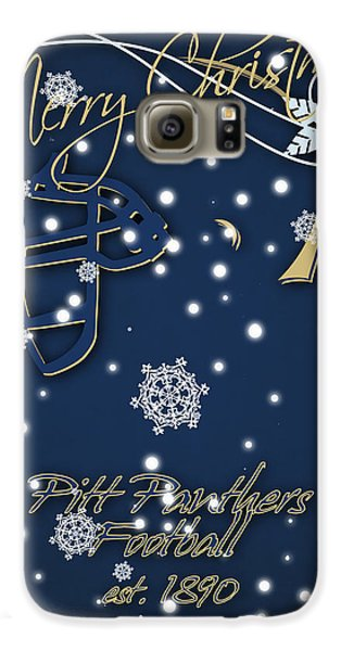 Pitt Panthers Christmas Cards Galaxy S6 Case by Joe Hamilton
