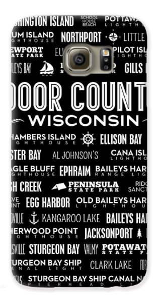 Places Of Door County On Black Galaxy S6 Case