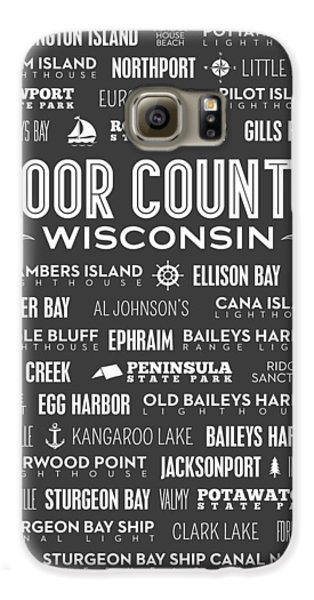 Places Of Door County On Gray Galaxy S6 Case