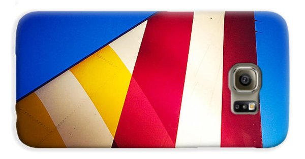 Detail Galaxy S6 Case - Plane Abstract Red Yellow Blue by Matthias Hauser