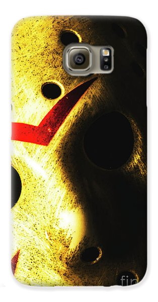 Hockey Galaxy S6 Case - Playing The Intimidator by Jorgo Photography - Wall Art Gallery