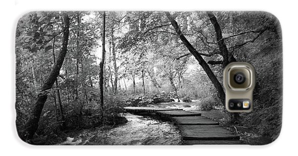 Plitvice In Black And White Galaxy S6 Case