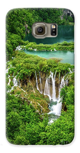 Plitvice Lakes National Park - A Heavenly Crystal Clear Waterfall Vista, Croatia Galaxy S6 Case
