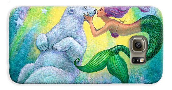 Extinct And Mythical Galaxy S6 Case - Polar Bear Kiss by Sue Halstenberg