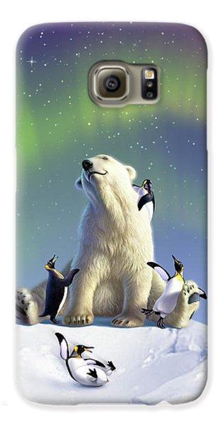 Penguin Galaxy S6 Case - Polar Opposites by Jerry LoFaro