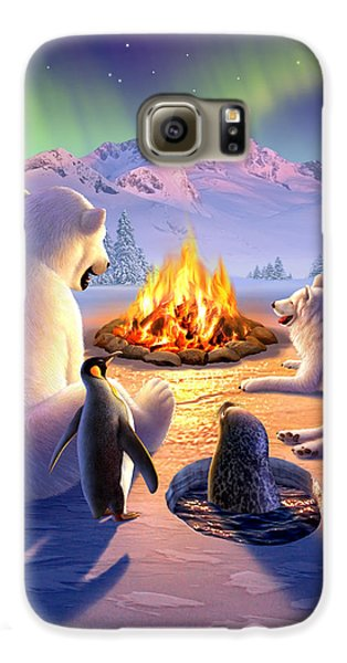 Penguin Galaxy S6 Case - Polar Pals by Jerry LoFaro