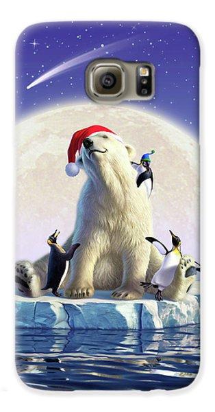 Penguin Galaxy S6 Case - Polar Season Greetings by Jerry LoFaro