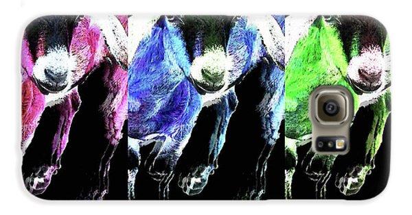 Pop Art Goats Trio - Sharon Cummings Galaxy S6 Case by Sharon Cummings