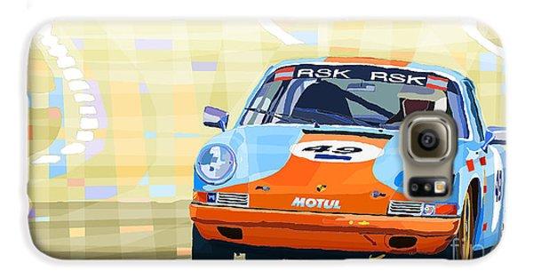 Automobile Galaxy S6 Case - Porsche 911 S  Classic Le Mans 24  by Yuriy Shevchuk