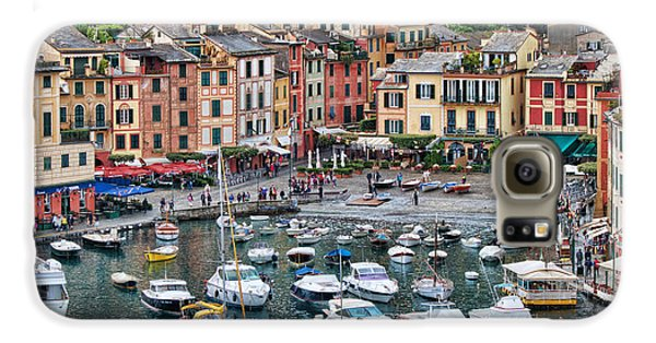 Portofino Harbor Galaxy S6 Case by Kim Wilson