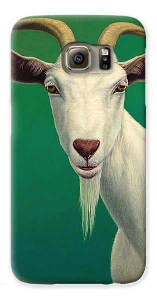 Mammals Galaxy S6 Case - Portrait Of A Goat by James W Johnson