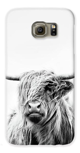 Cow Galaxy S6 Case - Portrait Of A Highland Cow - Vertical Orientation by Dorit Fuhg