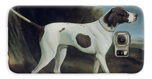 Dog Galaxy S6 Case - Portrait Of A Liver And White Pointer by George Garrard