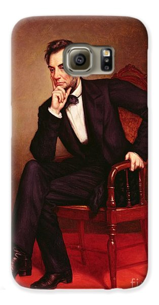 Portrait Of Abraham Lincoln Galaxy S6 Case by George Peter Alexander Healy