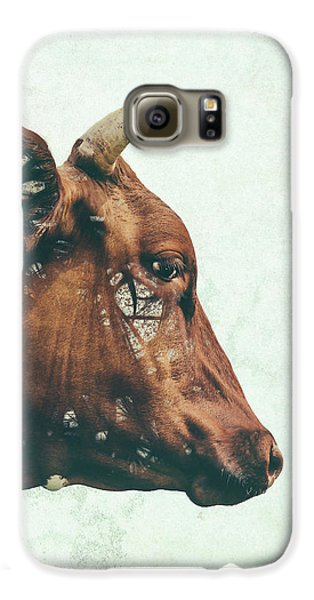 Cow Galaxy S6 Case - Portrait Of Bess by Katherine Smit