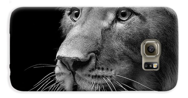 Lion Galaxy S6 Case - Portrait Of Lion In Black And White II by Lukas Holas