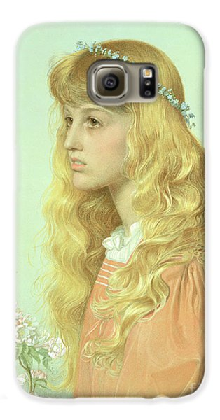 Portrait Of Miss Adele Donaldson, 1897 Galaxy S6 Case by Anthony Frederick Augustus Sandys