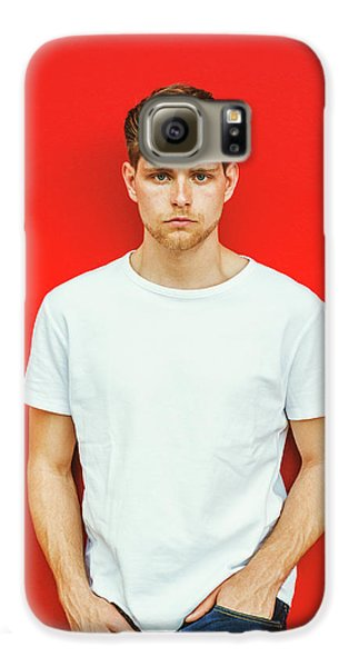 Portrait Of Young Handsome Man Galaxy S6 Case