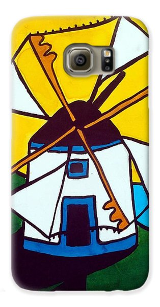 Portuguese Singing Windmill By Dora Hathazi Mendes Galaxy S6 Case by Dora Hathazi Mendes