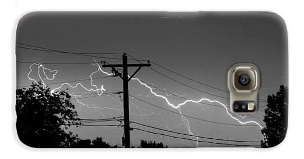 Power Lines Bw Fine Art Photo Print Galaxy S6 Case by James BO  Insogna