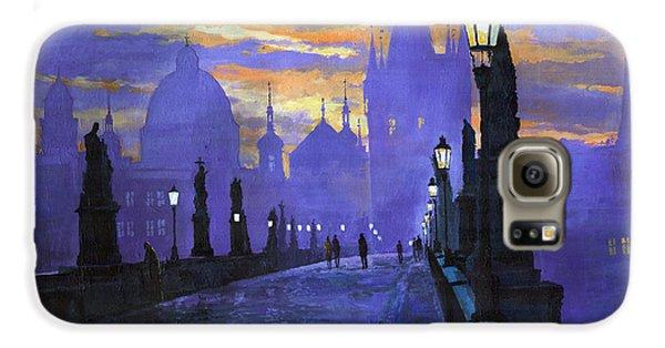 Prague Charles Bridge Sunrise Galaxy S6 Case
