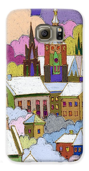 Prague Old Roofs Prague Castle Winter Galaxy S6 Case by Yuriy  Shevchuk
