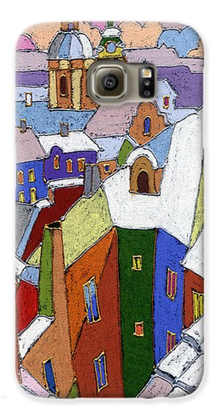 Prague Old Roofs Winter Galaxy S6 Case by Yuriy  Shevchuk