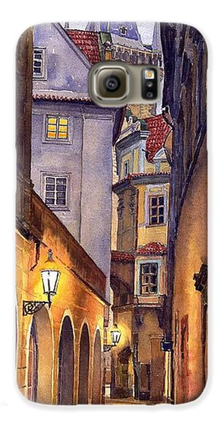 City Scenes Galaxy S6 Case - Prague Old Street  by Yuriy Shevchuk