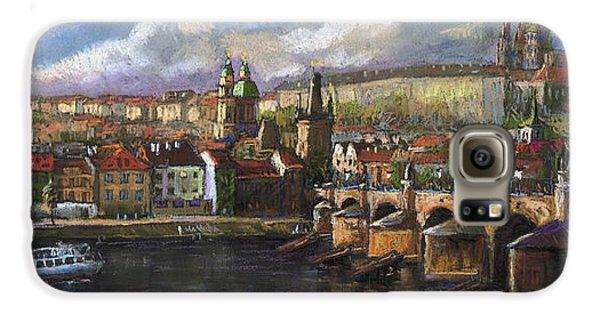 Castle Galaxy S6 Case - Prague Panorama Charles Bridge Prague Castle by Yuriy Shevchuk