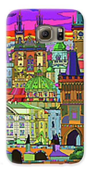 Town Galaxy S6 Case - Prague Panorama Old Town by Yuriy Shevchuk