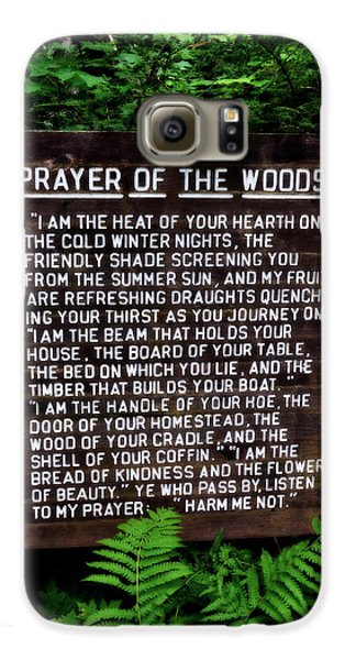Prayer Of The Woods Galaxy S6 Case by Michelle Calkins