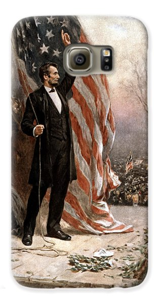 President Abraham Lincoln Giving A Speech Galaxy S6 Case