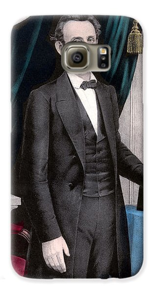 President Abraham Lincoln In Color Galaxy S6 Case by War Is Hell Store