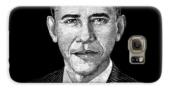 President Barack Obama Graphic Galaxy S6 Case by War Is Hell Store