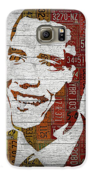 President Barack Obama Portrait United States License Plates Galaxy S6 Case by Design Turnpike