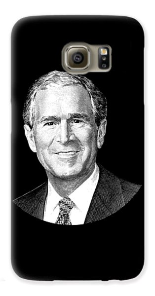 President George W. Bush Graphic Galaxy S6 Case by War Is Hell Store