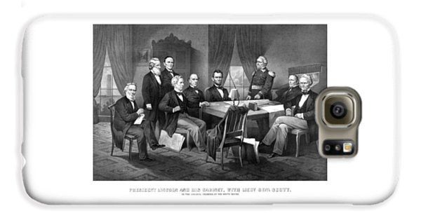 President Lincoln His Cabinet And General Scott Galaxy S6 Case