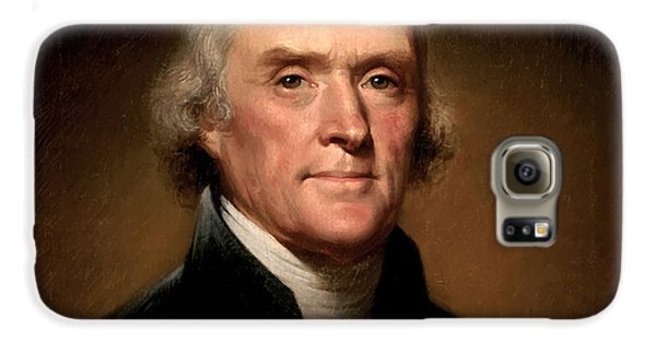 Celebrities Galaxy S6 Case - President Thomas Jefferson  by War Is Hell Store
