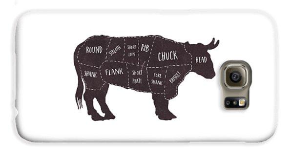 Primitive Butcher Shop Beef Cuts Chart T-shirt Galaxy S6 Case