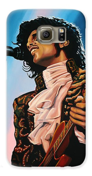 Rhythm And Blues Galaxy S6 Case - Prince Painting by Paul Meijering