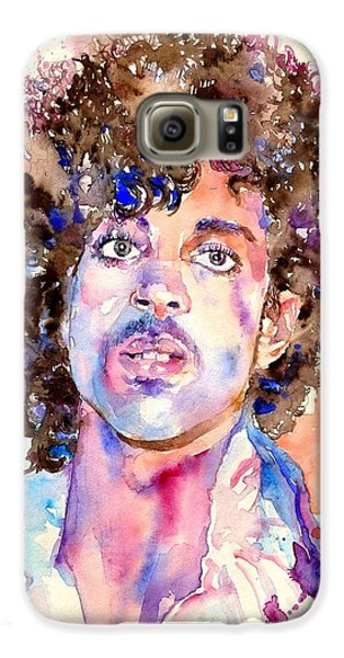 Blues Legend Galaxy S6 Case - Prince Rogers Nelson Watercolor by Suzann's Art