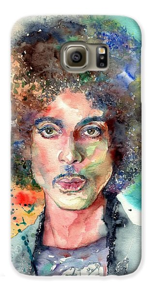 Blues Legend Galaxy S6 Case - Prince Rogers Nelson Young Portrait by Suzann's Art