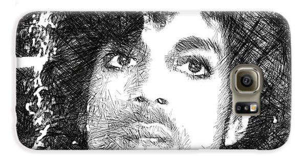 Prince - Tribute Sketch In Black And White 3 Galaxy S6 Case